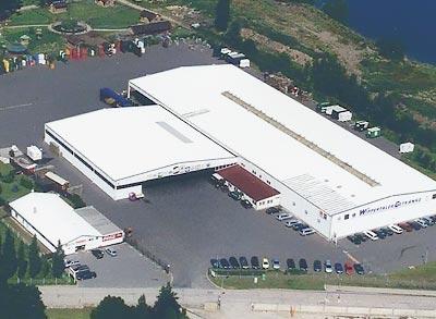 Luftaufnahme der Wippertaler Getränke GmbH in Sundhausen bei Nordhausen